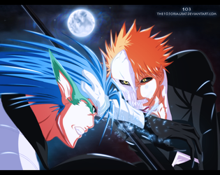 Ichigo vs Grimmjow by The-103