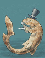 SHARK WEEK 2013 #4 - Spotted Wobbegong by comixqueen