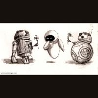 Droids by sydniart