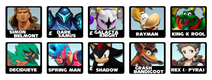 My Super Smash Bros Ultimate Predictions List. by TheShadowRush1992