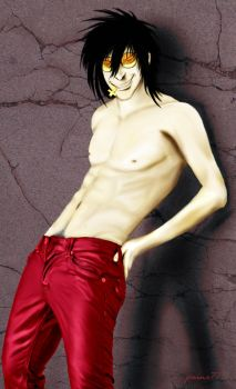 Alucard Lost His Shirt by Paine77