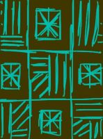 Brown and turquoise pattern by Erikku8