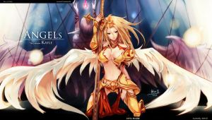 The Angels 2 (Kayle!) by beanbeancurd