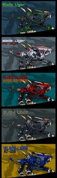 Blade Ligers by AuroraLion