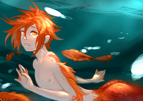 Young Merman by kommoyThyhiru