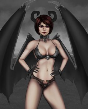 Succubus W.I.P. 4 by Cazareal