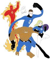 The Fantastic Four by VGAfanatic