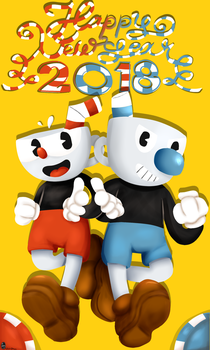 Cuphead-Happy New Year by Spirit-Okami