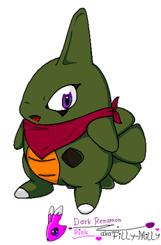 ArtTrade - Gojira the Larvitar by Filly-Milly