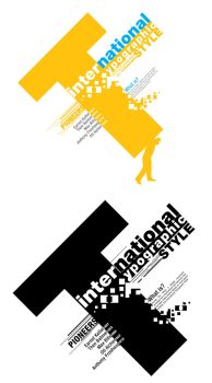 Itl. Typographic Style Poster by depthskins