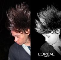 Photomanipulation, from male to female. by Aparicio94