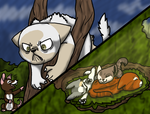 [lineages]hunting|Mocked Hunt And Resting Sunbeams by millemusen