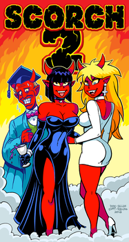 Demon Grad Party by curtsibling