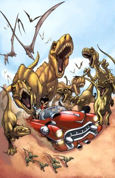 Cadillacs and Dinosaurs color by logicfun
