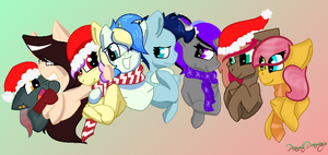 MLP Buddies Collab Final (C) by PeanutsDrawings