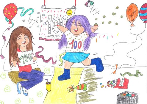 (Special drawing) 100 watchers!!! by IrmitXD