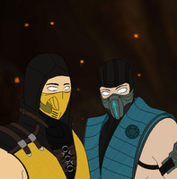 AT Scorpion and Sub Zero by maurawilson
