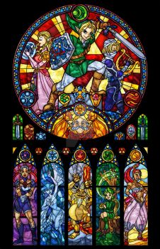 Ocarina of Time: The Seven Sages Stained Glass