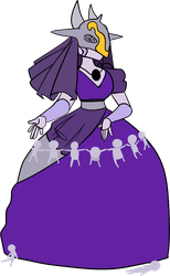 A mournful Dirge - purple Spinel War unit by KnightlyMoon