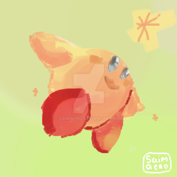 Kirby mouse doodle by Saimaeno