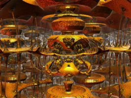 Yellow Clockwork Caves by PhotoComix2