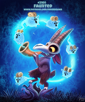 Daily Paint 2160. Faunted by Cryptid-Creations