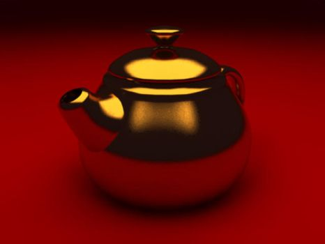 Teapot on Red by Sojaner