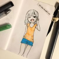 Daily Drawing #2 - Hi~ by miki-chaan
