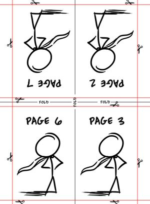 8 page Mini Comic Template 2 by Gingco