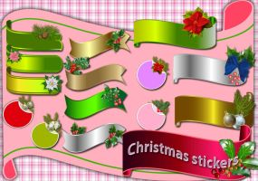 Christmas stickers by roula33