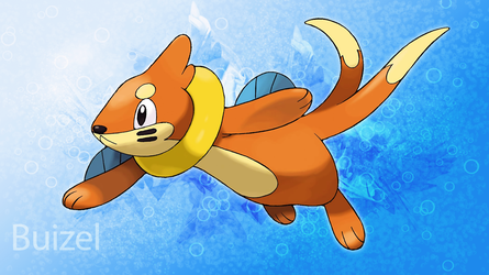 Buizel Desktop Background V2 by KirkButler