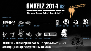 ONKELZ 2014 - Onkelz Fan-Schriftart - Version 2 by neWTom