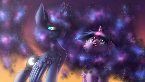 I looove it! [MLP Luna and Twilight] by Shad0w-Galaxy