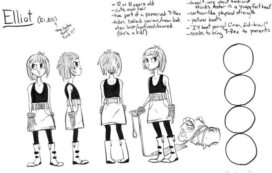 Character Reference - Elliot by kaijuMOSES