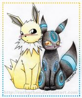 Jolteon x Umbreon by RachyChan