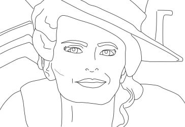 Coloring Page #13 Zelena Mills by krypton619