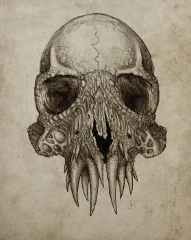Toothful Skull by Scklyic