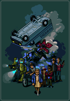Stranger Things by paintpixelprint