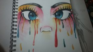 Colorful tears by Tiny--Turtle