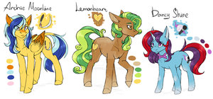 Old characters redesign (original characters) by ArtyJoyful