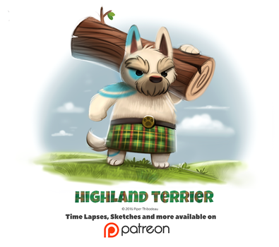 Day 1395. Highland Terrier by Cryptid-Creations