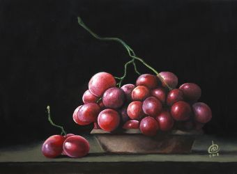 Grapes (Still Life Painting) by dbcalag