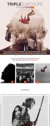 Triple Exposure Photoshop Action by GraphicAssets