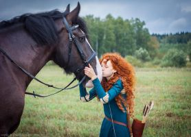 Merida and Angus by GreatQueenLina