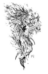 Justice tattoo design by Kaos-Nest