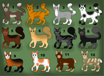 Cat Adoptables by Harryn53012