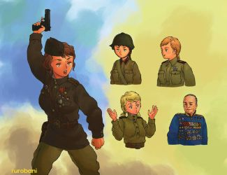 WW2 Russian Soldiers and Uniforms by rurobani