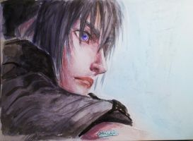 Noctis watercolour by NicoTopin2
