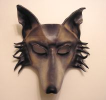 Custom Order Wolf Leather Mask by teonova