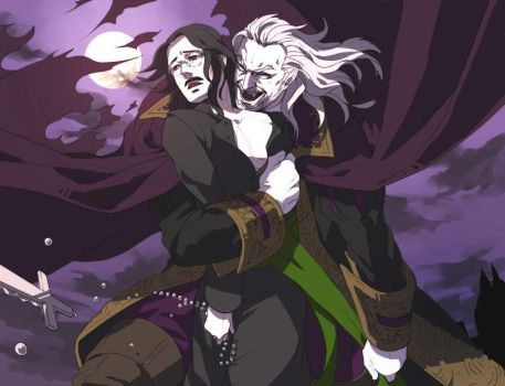 Vampire and priest by hagios0